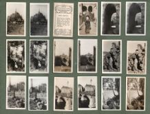 Stereoscopic cigarette cards set  Sweden, Italy, Norway,